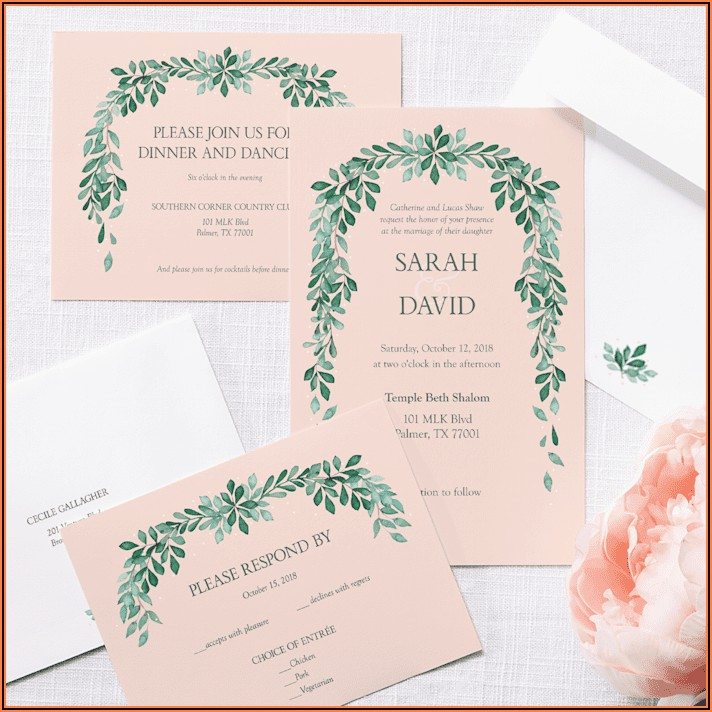 Vistaprint Wedding Invitations With Rsvp