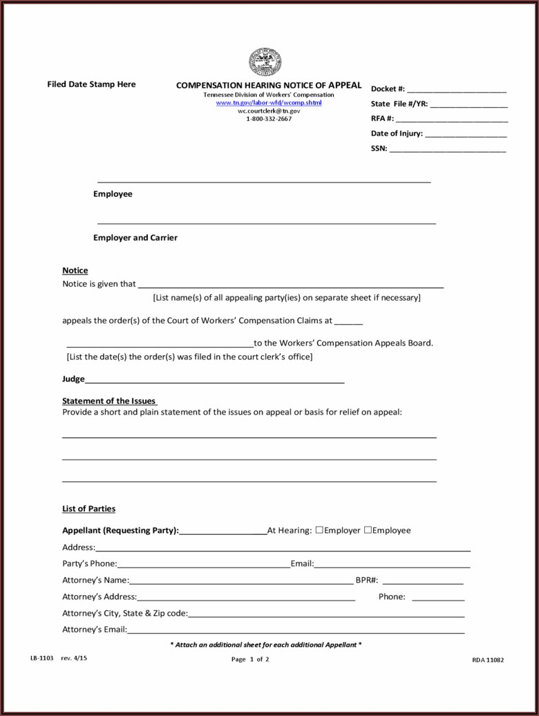 Waiver Of Workers Compensation Form Maryland