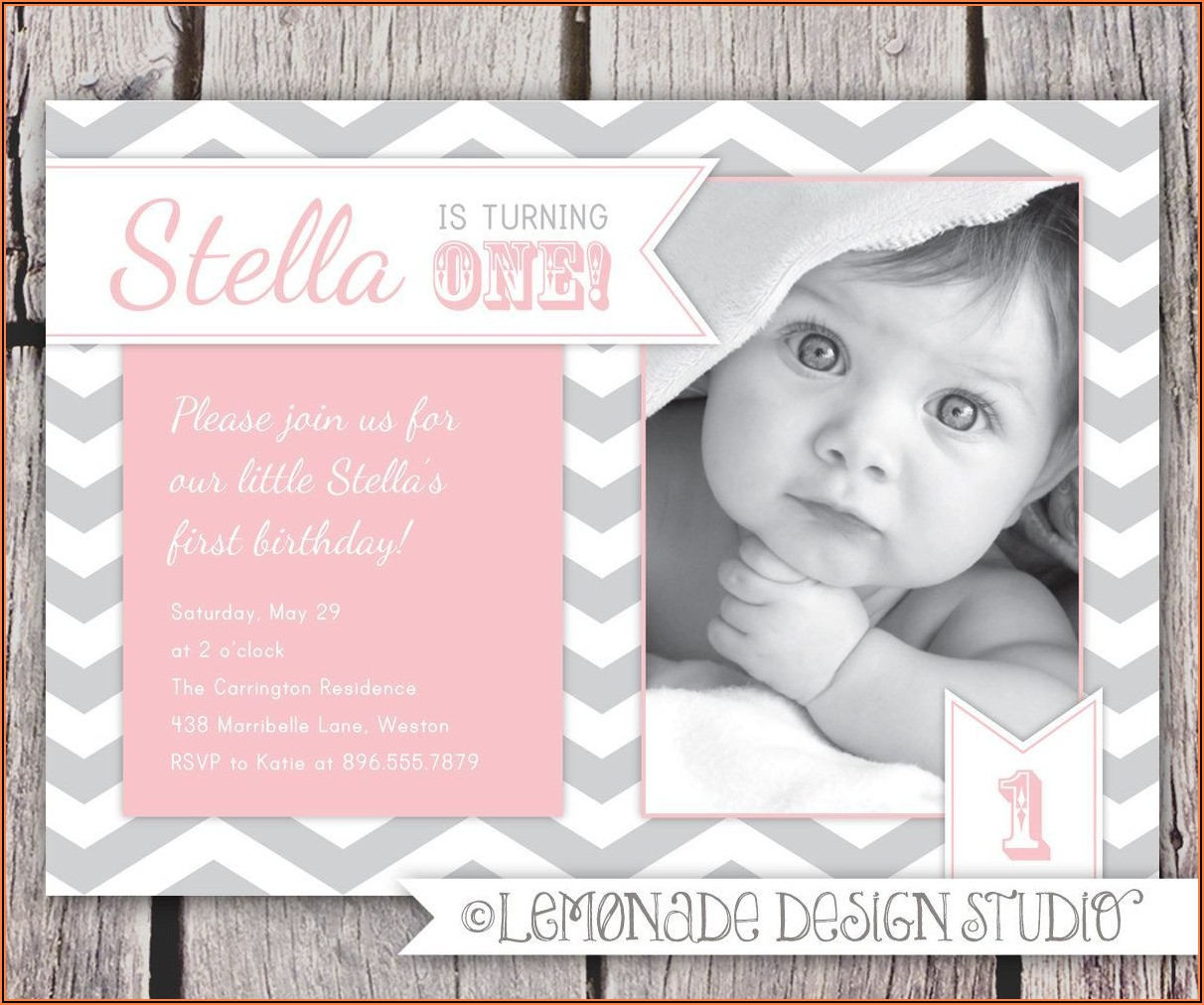 Walmart Photo 1st Birthday Invitations