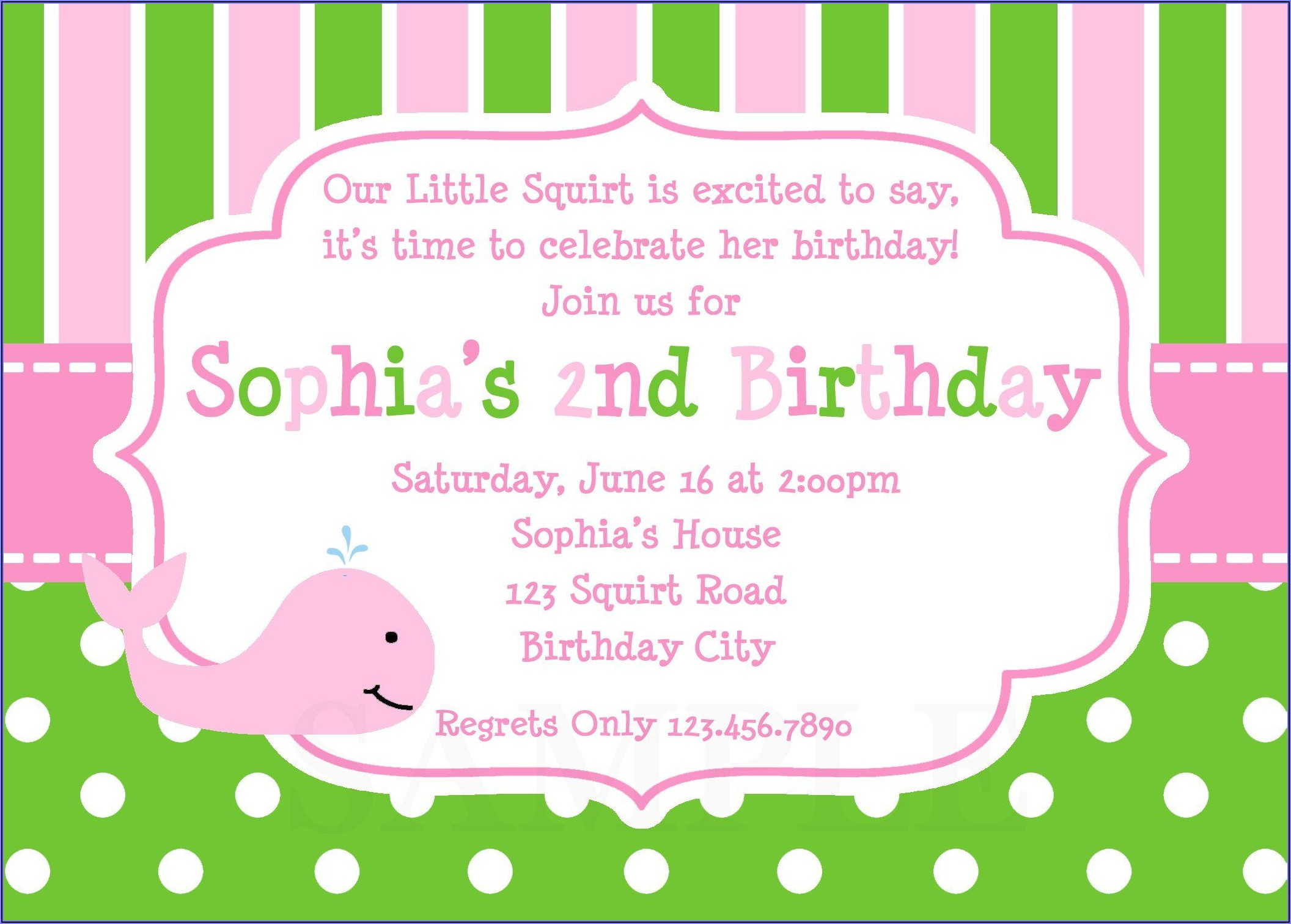Walmart Photo Invitations Birthday