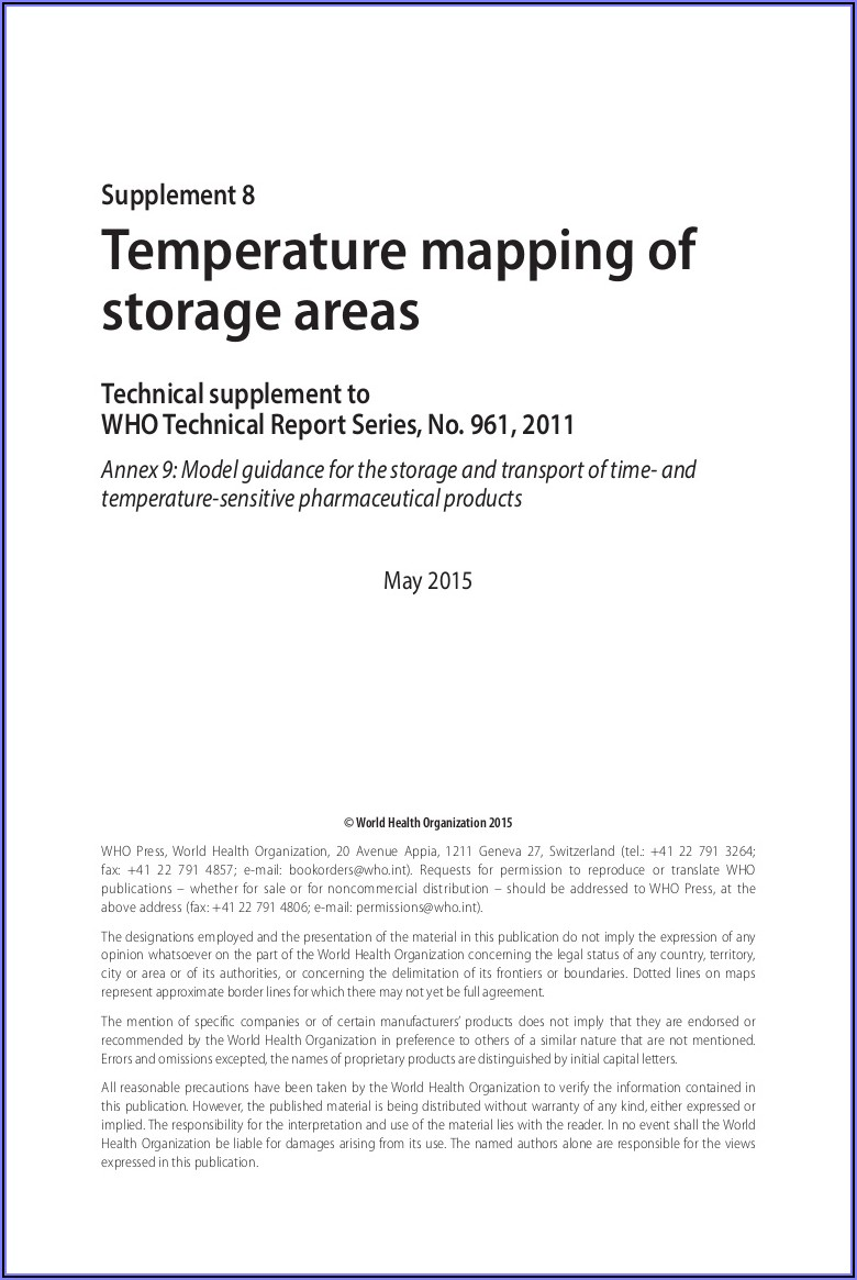 Warehouse Temperature Mapping Sop