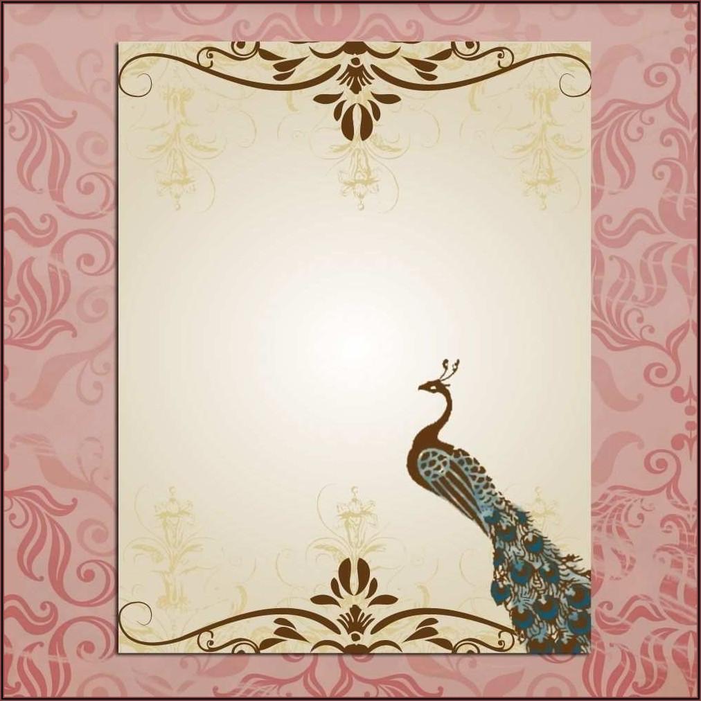 Wedding Invitation Card Template Blank