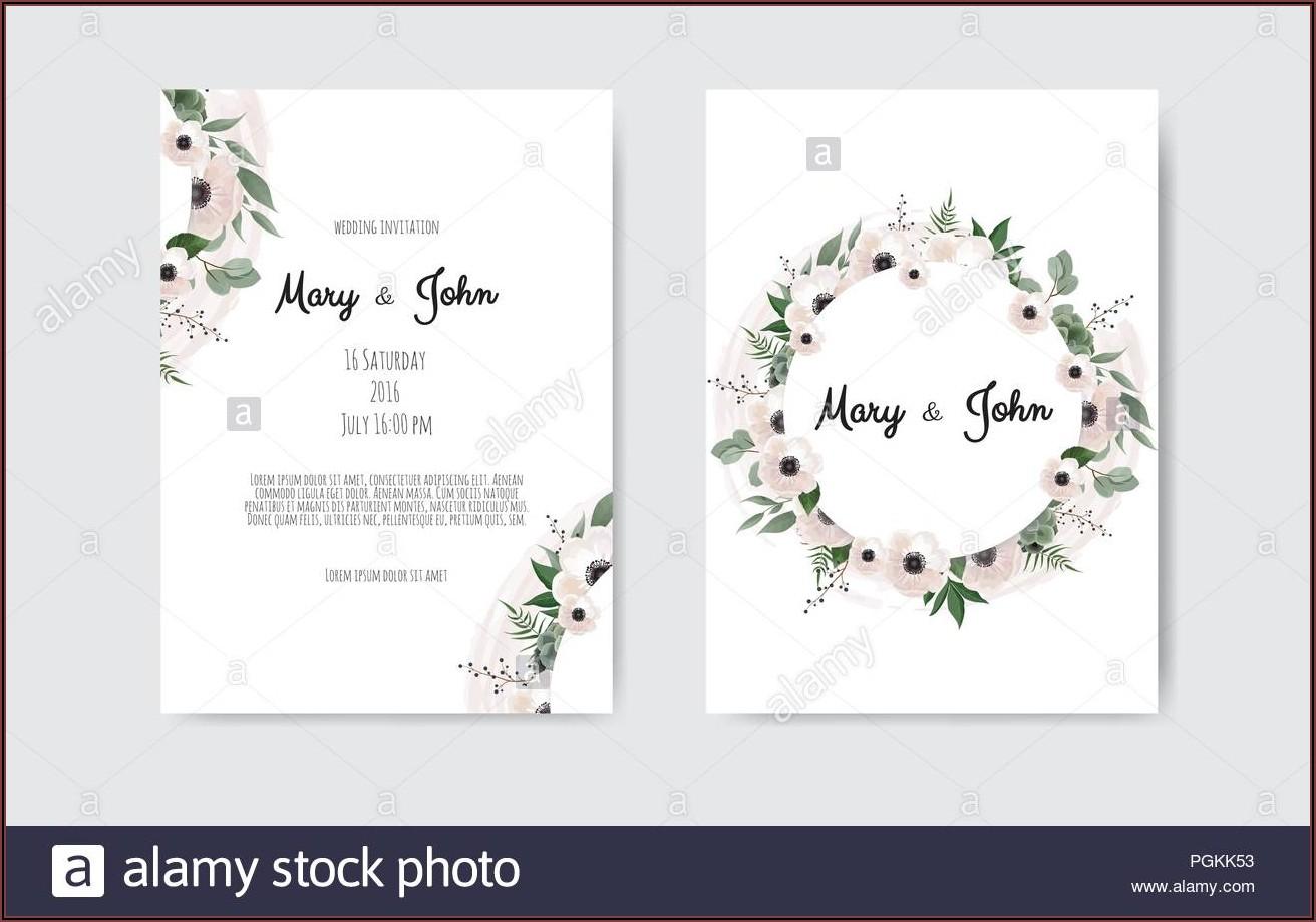 Wedding Invitation Card Template Design