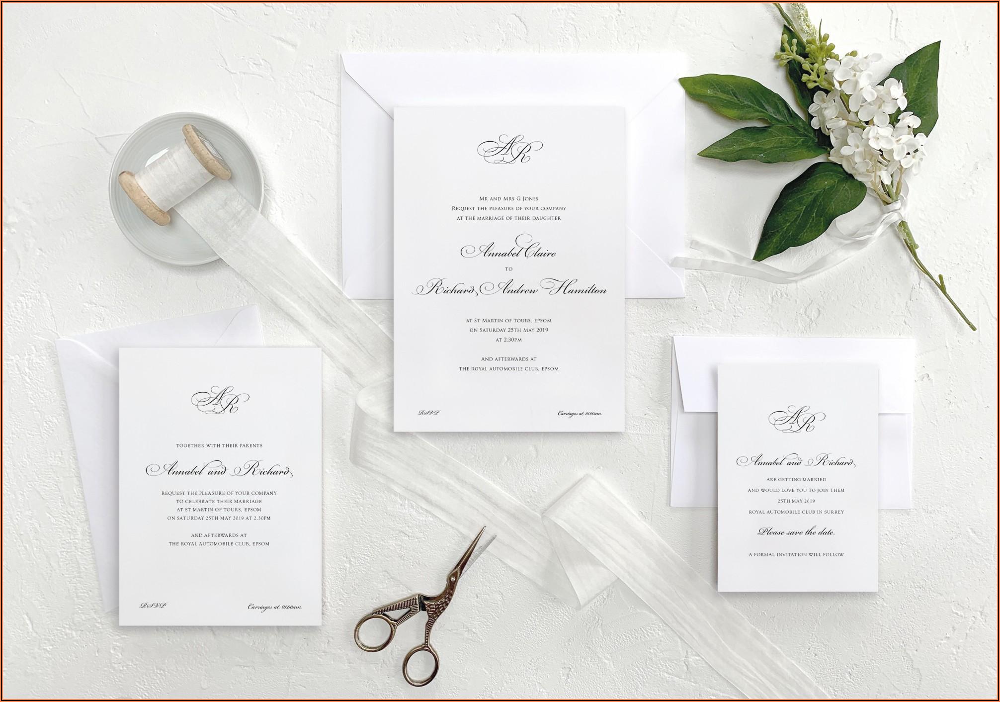Wedding Invitation Packages Uk