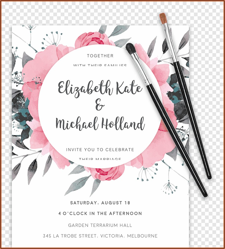 Wedding Invitation Templates Floral