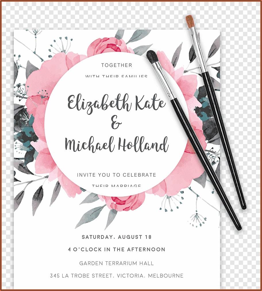 Wedding Invitation Templates Floral