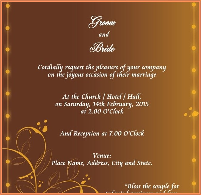 Wedding Invitation Templates Free Indian