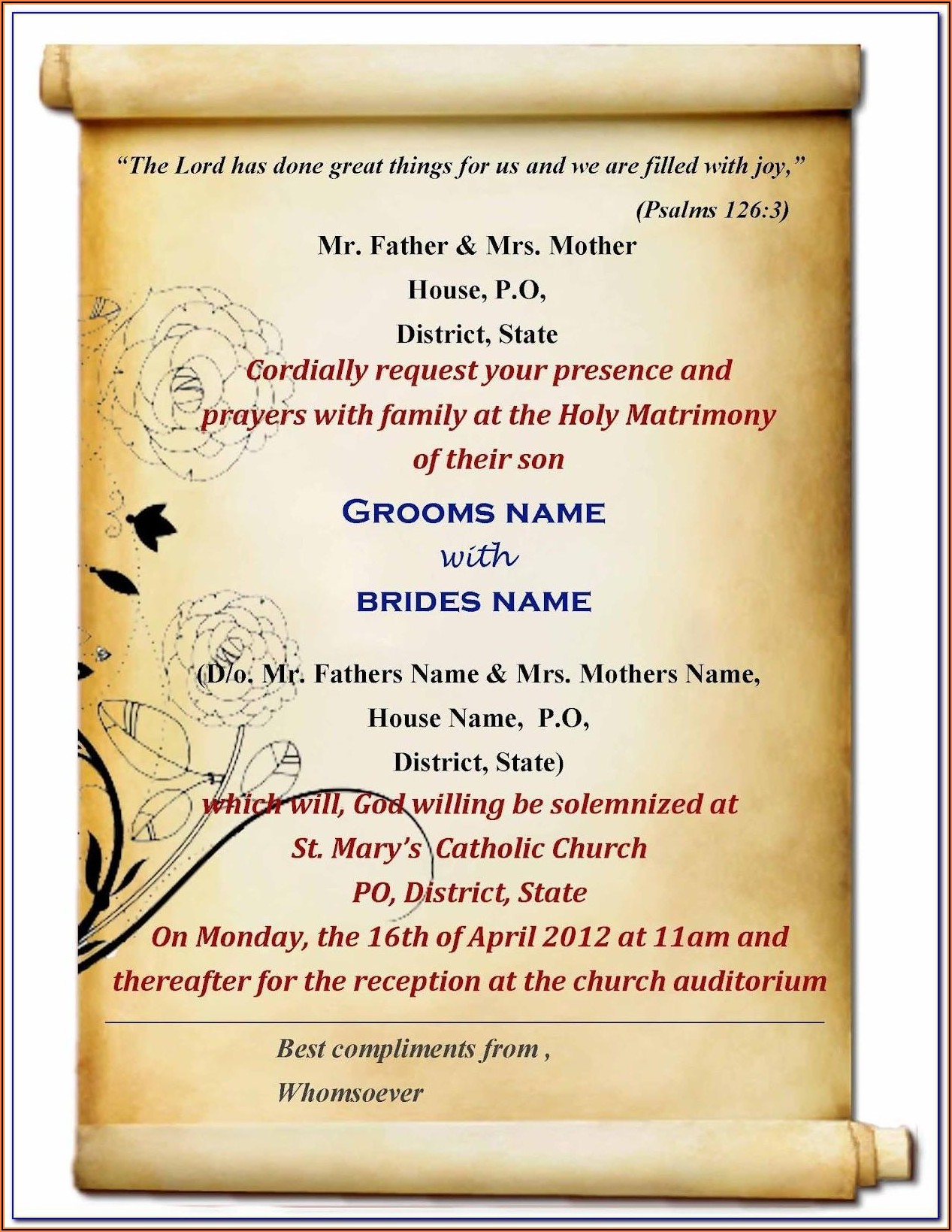 Wedding Invitation Templates Free Online