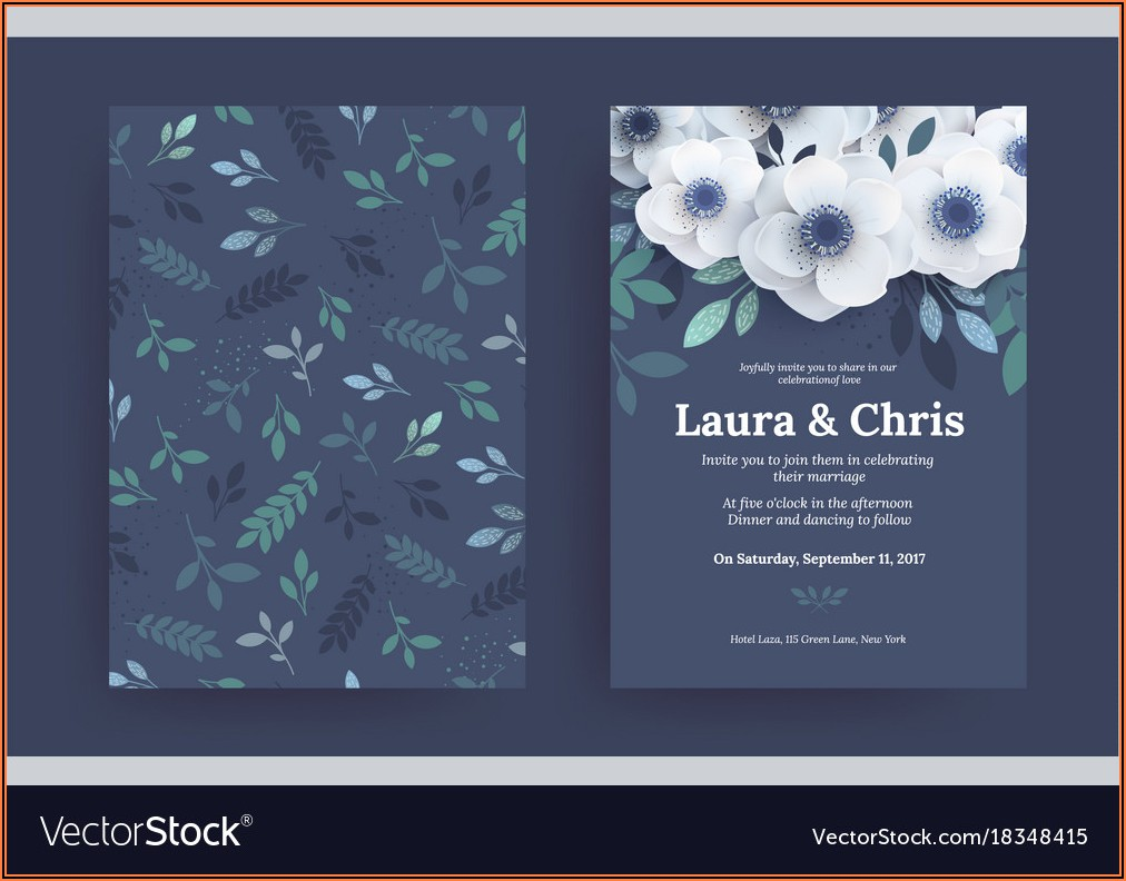 Wedding Invitation Templates Free Vector