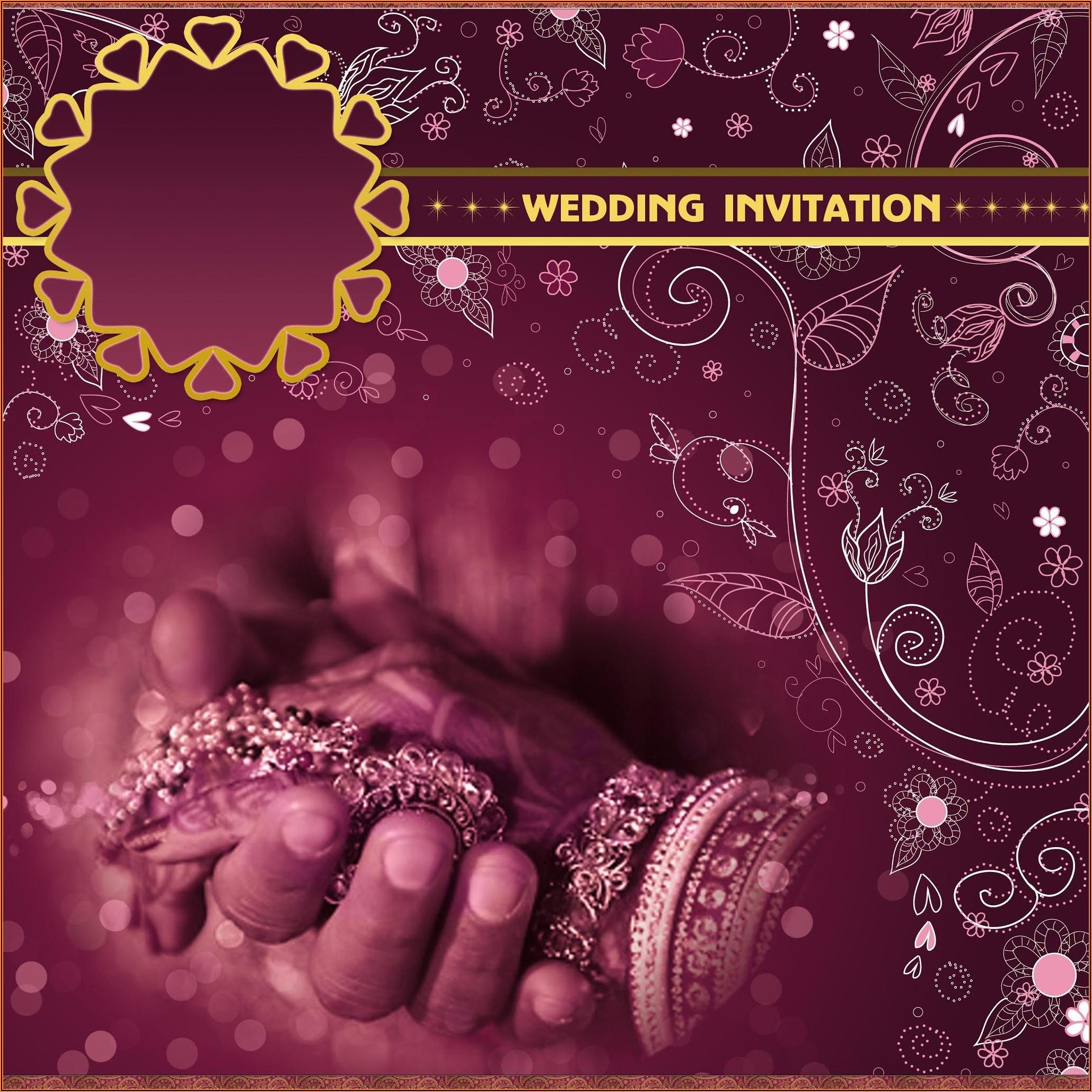 Wedding Invitation Templates Indian