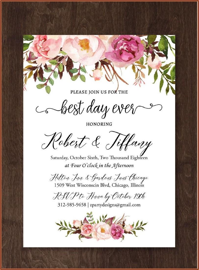 Wedding Invitation Templates Online Edit Free