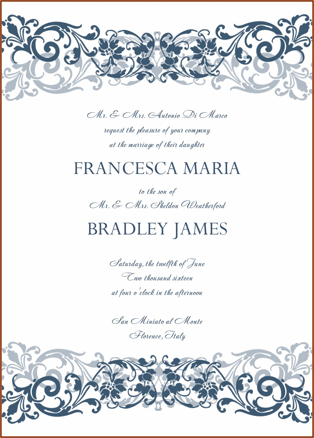 Wedding Invitation Templates Png