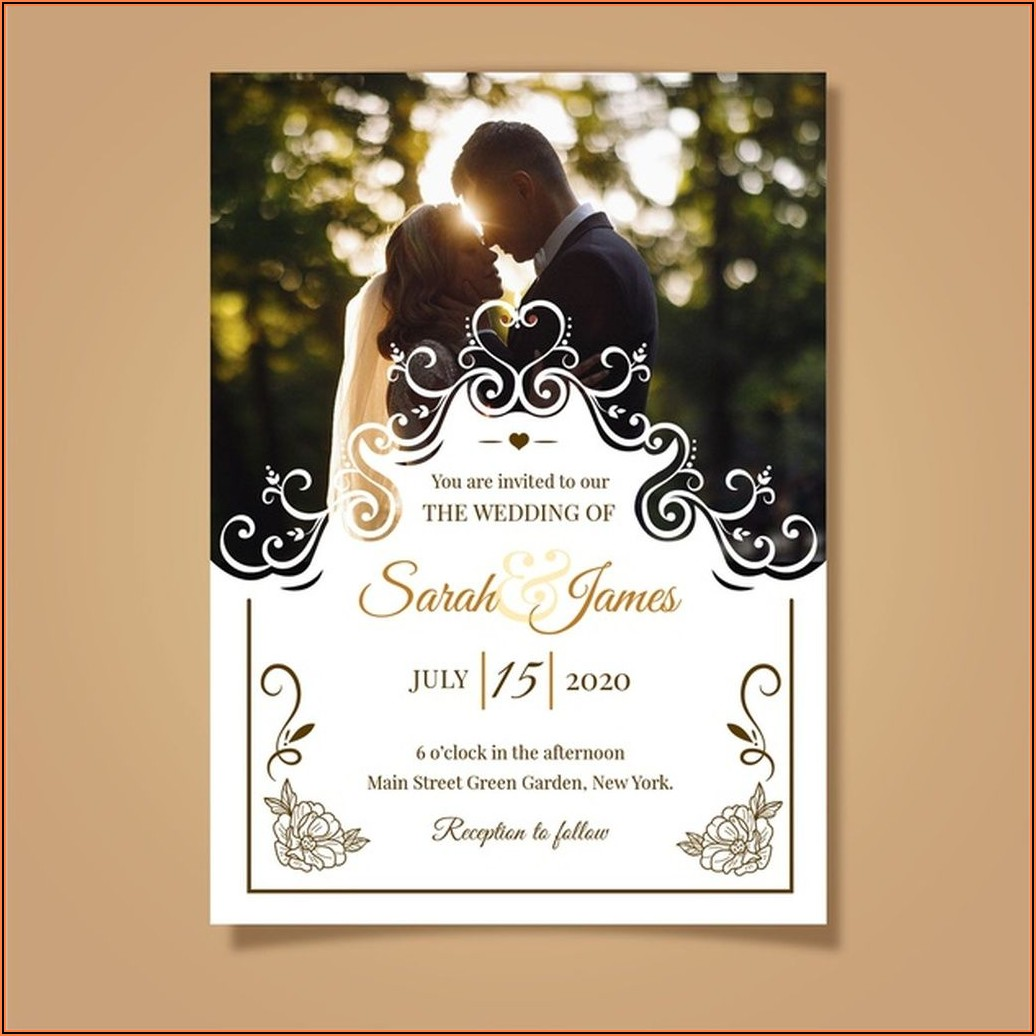 Wedding Invitation Templates With Photo