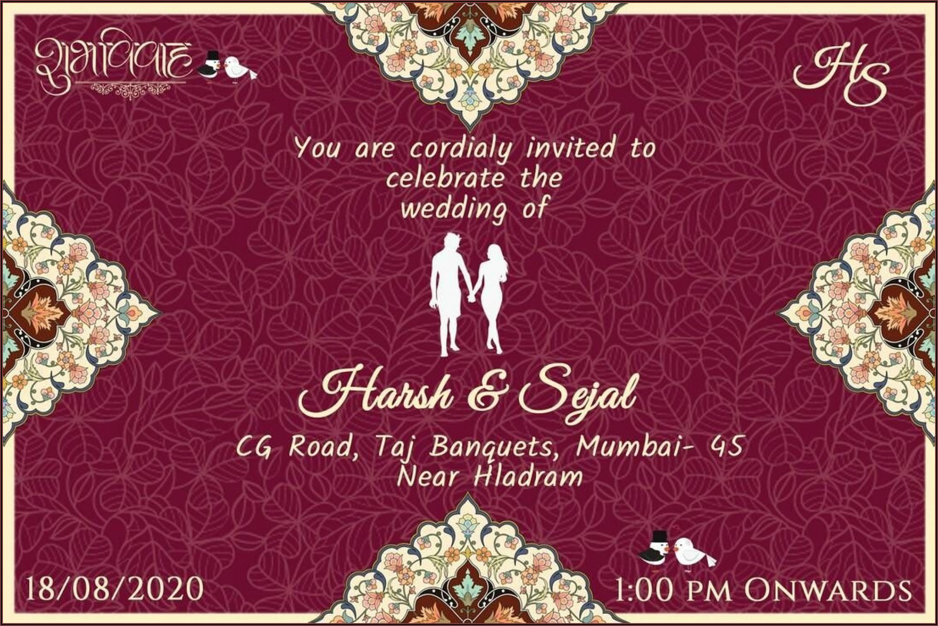 Wedding Invitation Video Templates Online Free