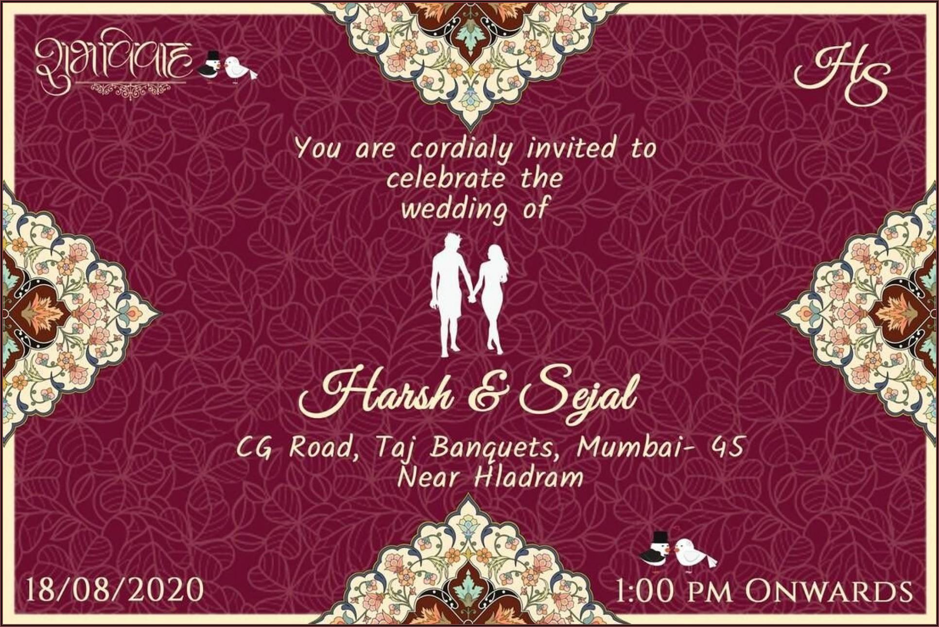 Wedding Invitation Video Templates Online Free