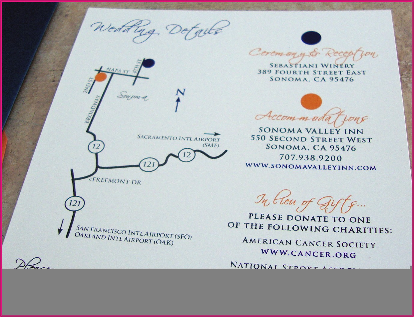 Wedding Invitations Maps And Directions