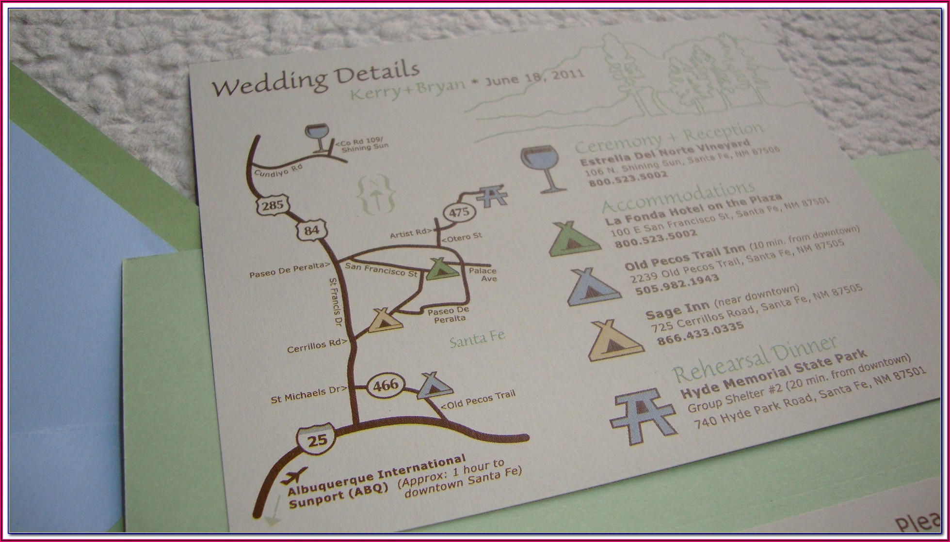 Wedding Invitations With Maps