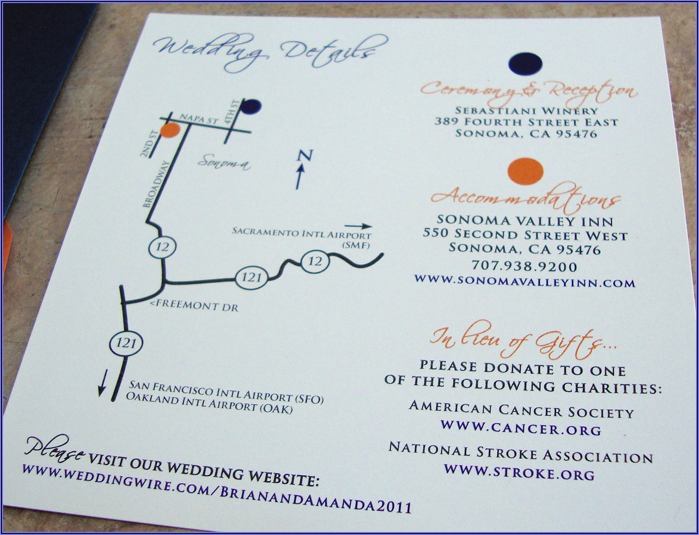 Wedding Reception Map Template