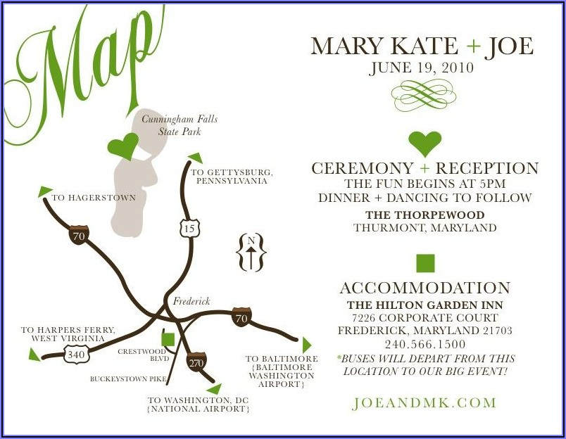 Wedding Reception Map