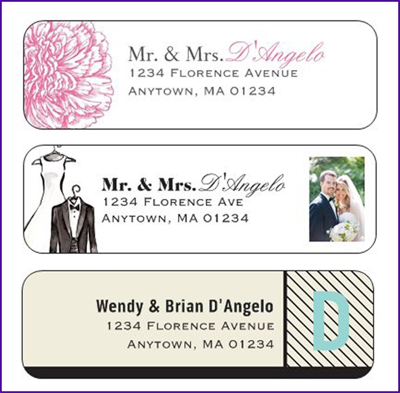 Wedding Return Address Labels Template