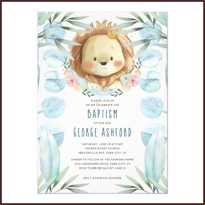 Welcome Baby Boy Dinner Invitation
