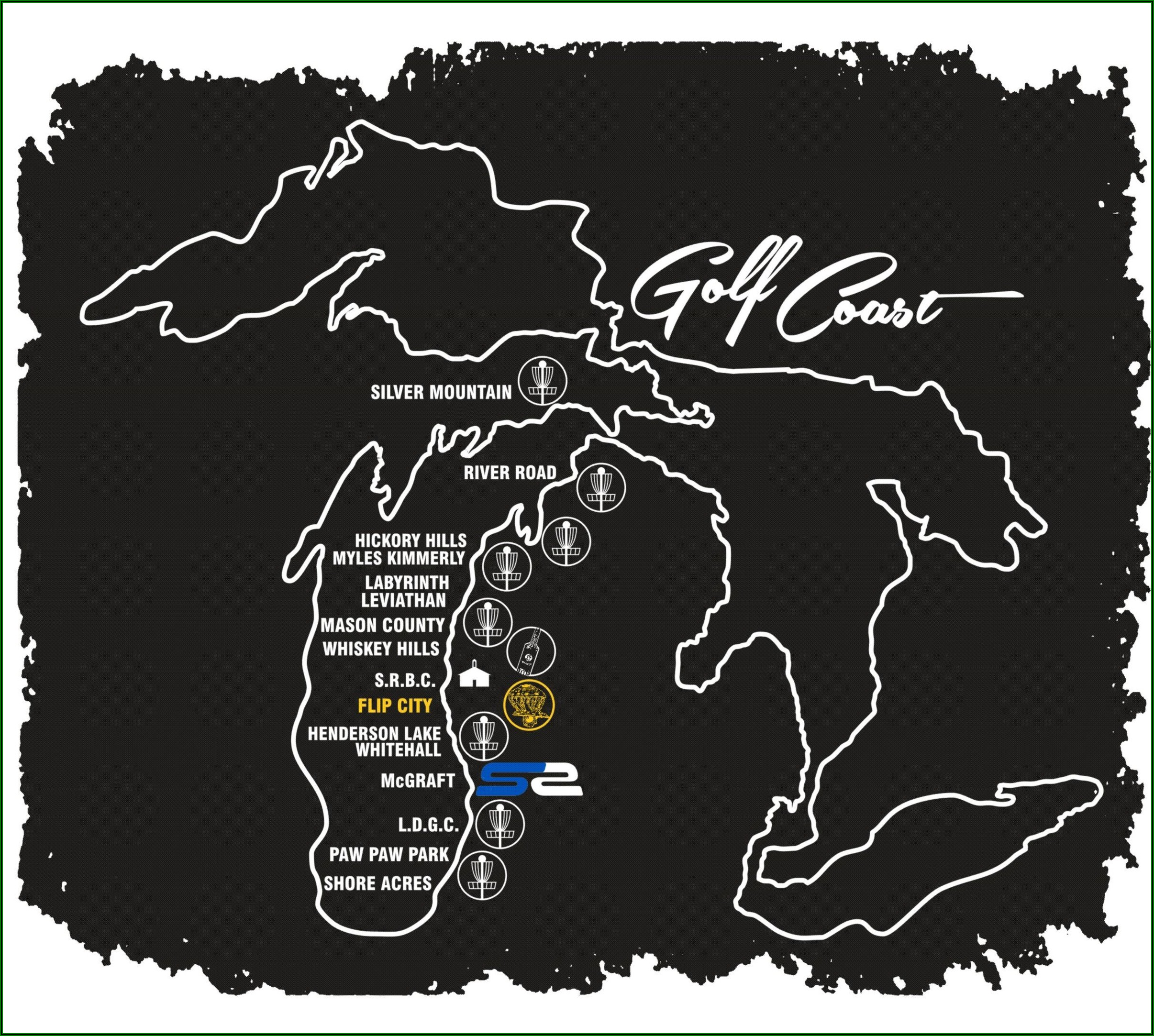 West Michigan Golf Courses Map