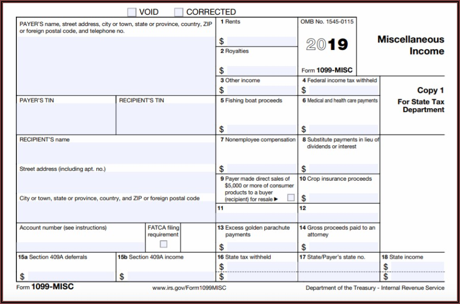Where Can I Get A 1099 Misc Form For 2018