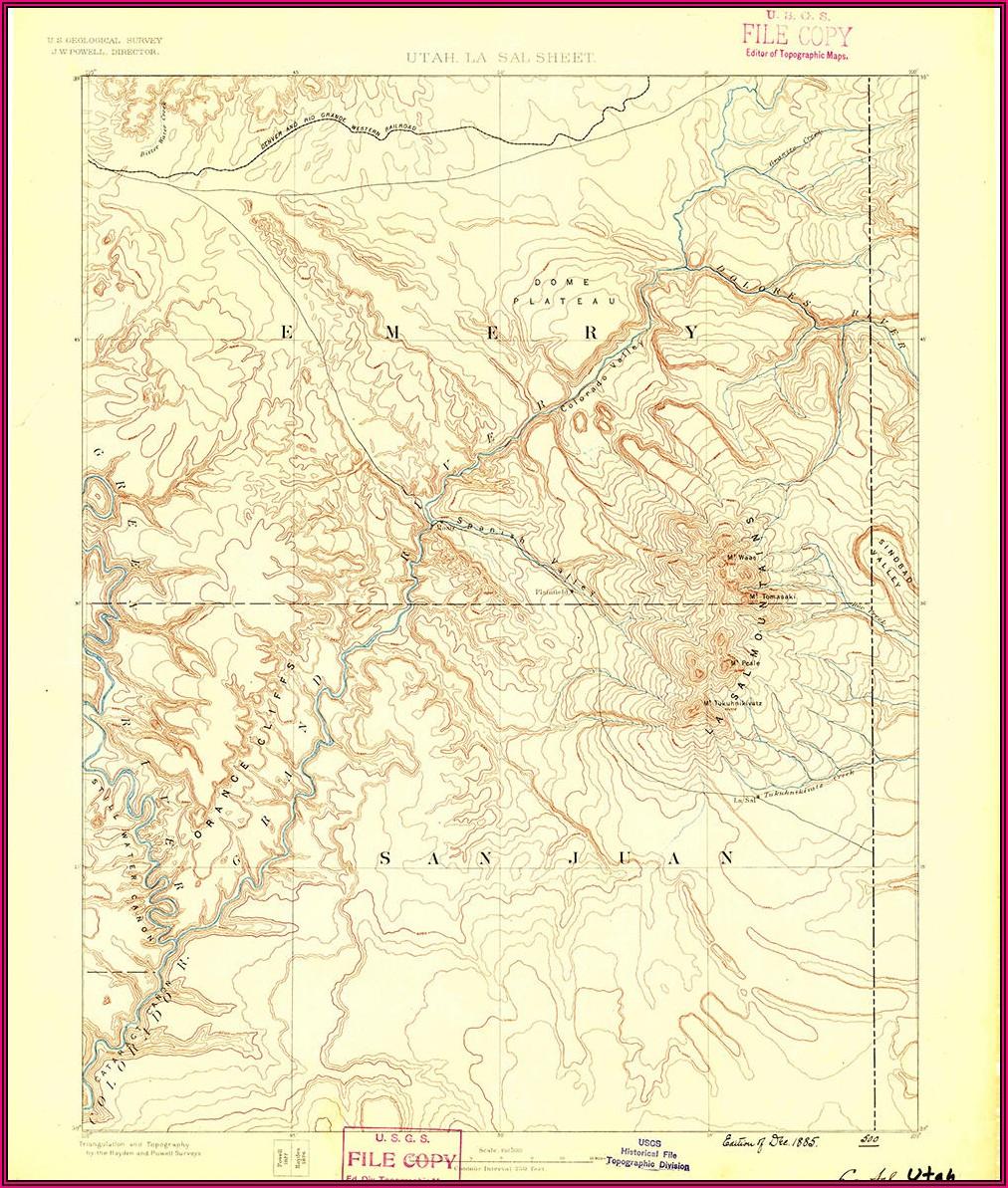 Where To Buy Topo Maps Utah