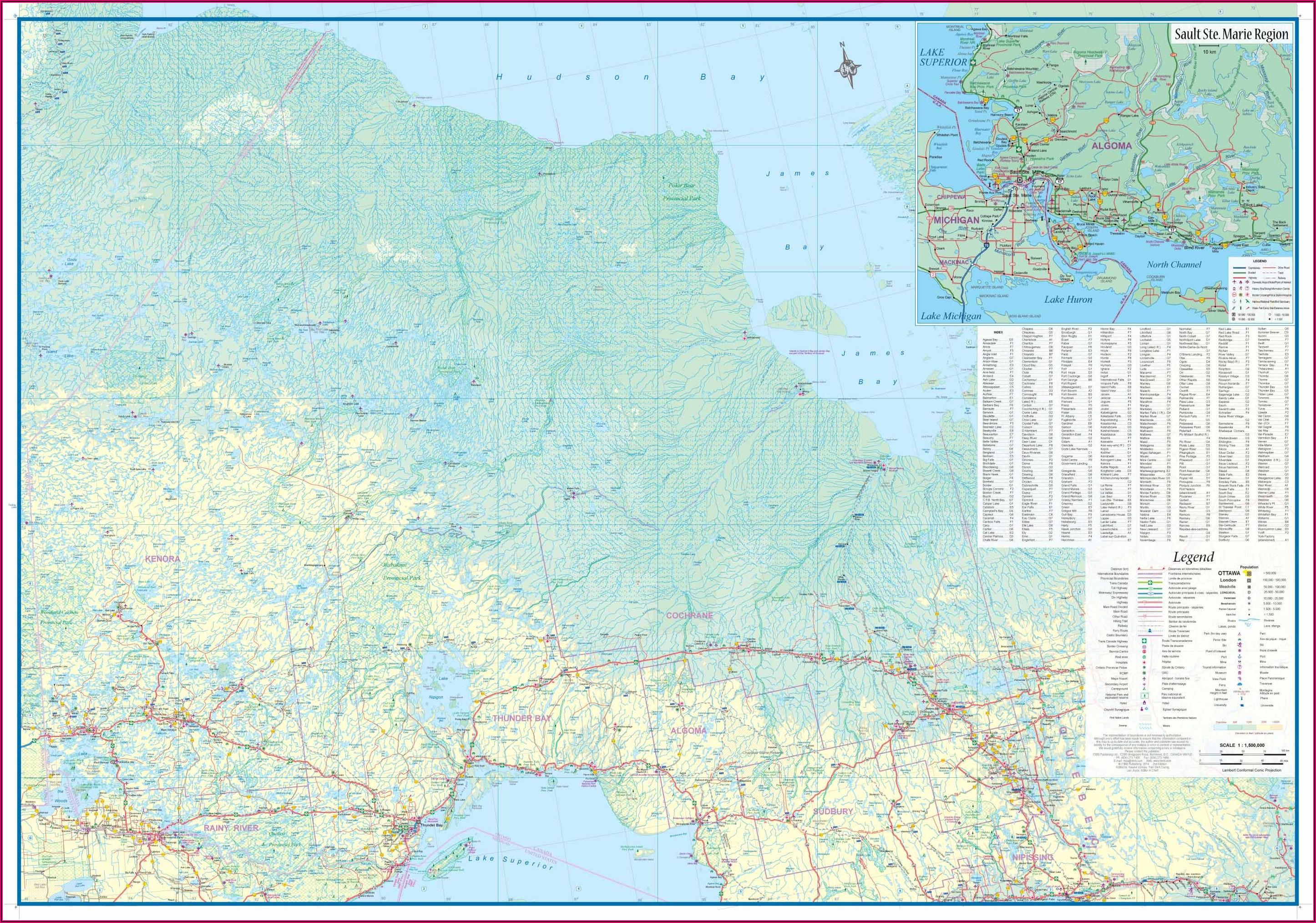 Where To Buy Topographic Maps Ontario