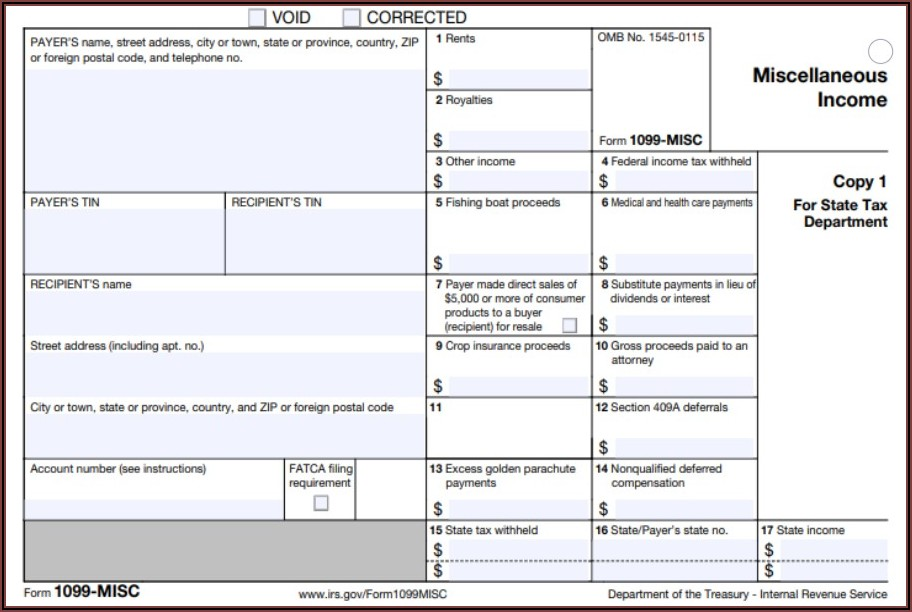 Where To Get Form 1099 Misc