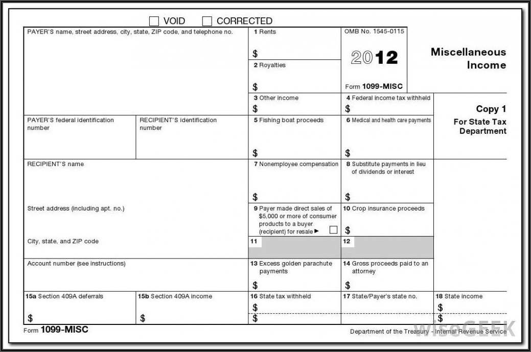 Where To Report Form 1099 Misc Income