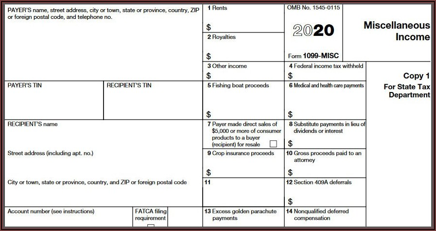 Where To Send Form 1099 Misc Copy A