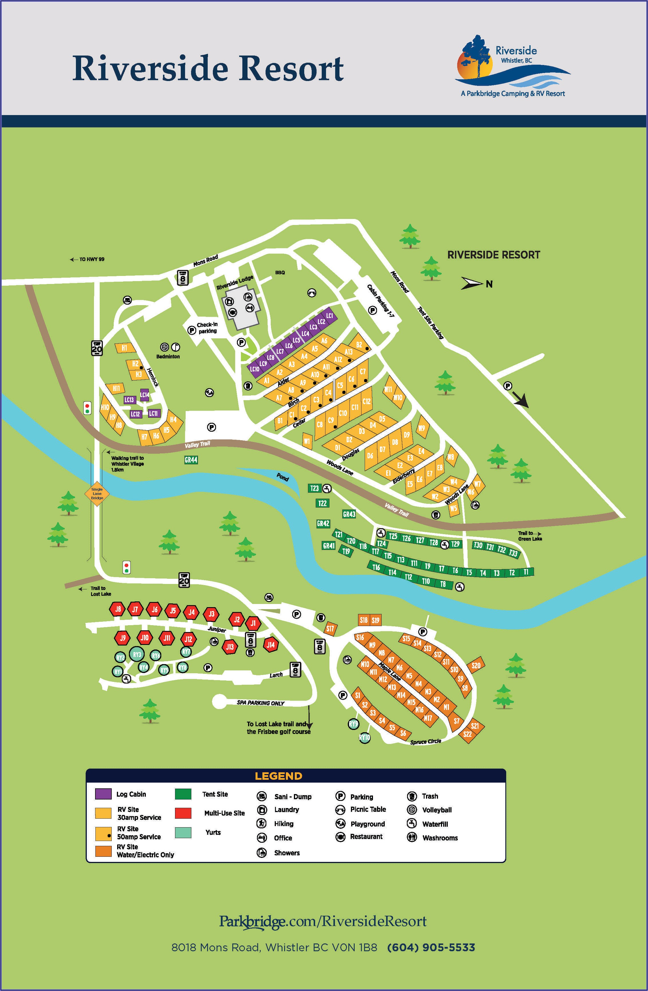 Whistler Resort Map