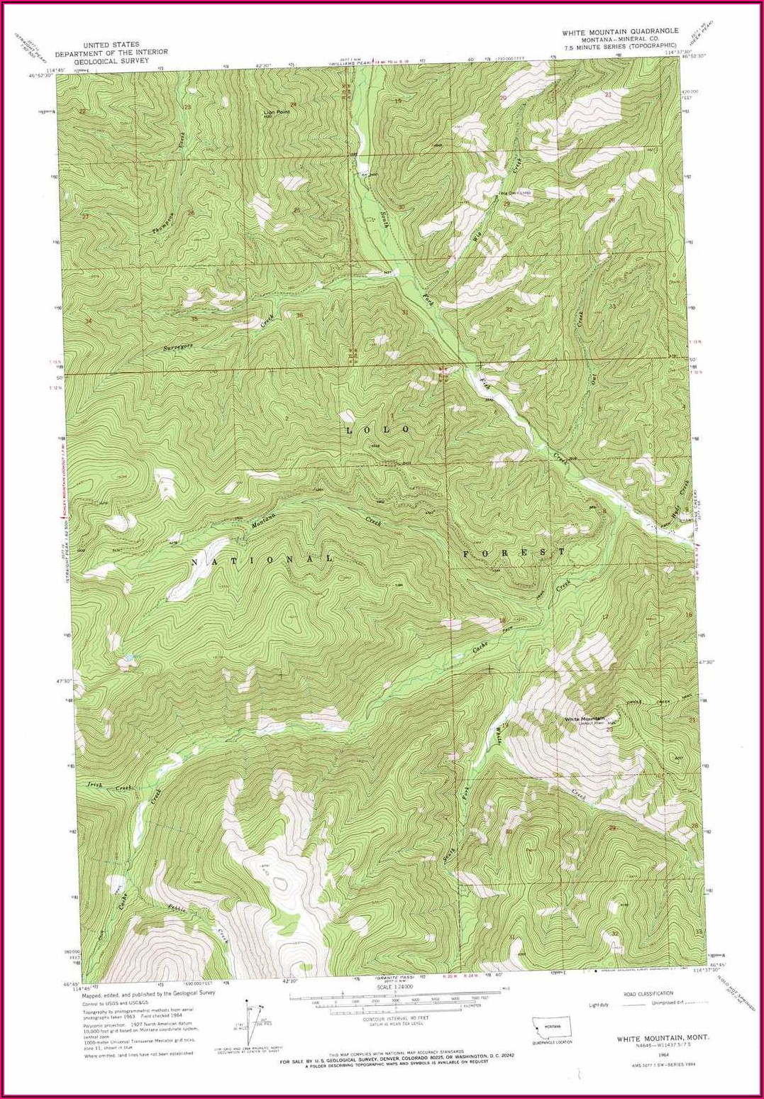 White Mountain Topo Map