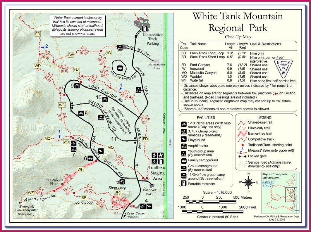 White Mountains Topographic Map