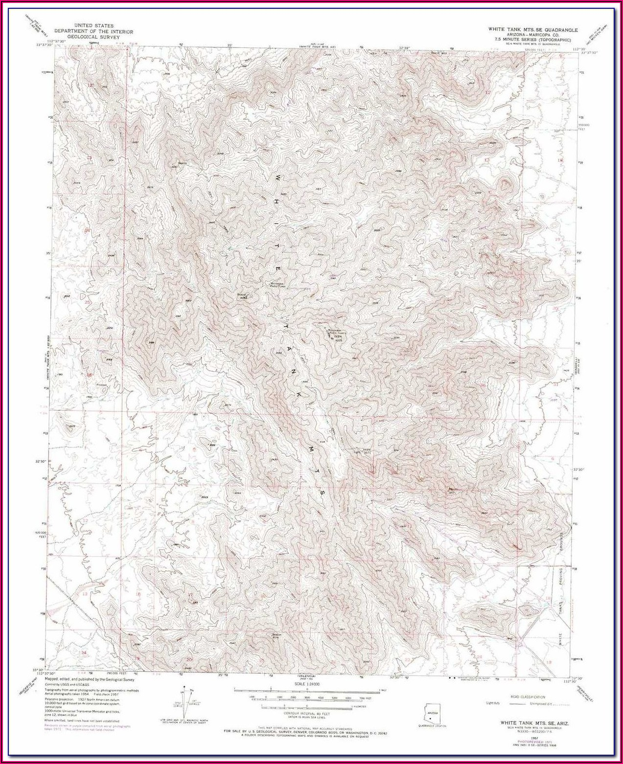 White Tank Mountains Topographic Map