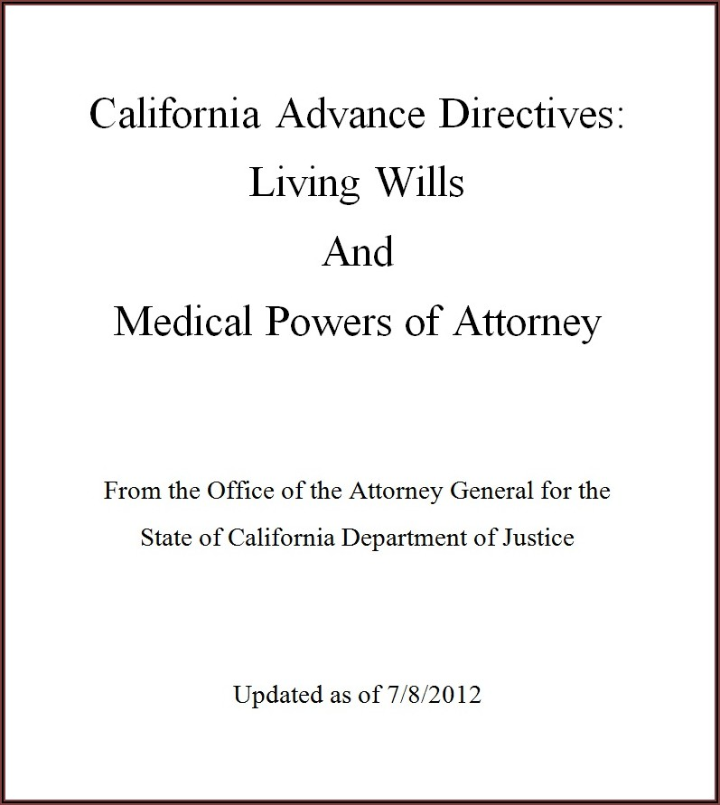 Will And Power Of Attorney Template