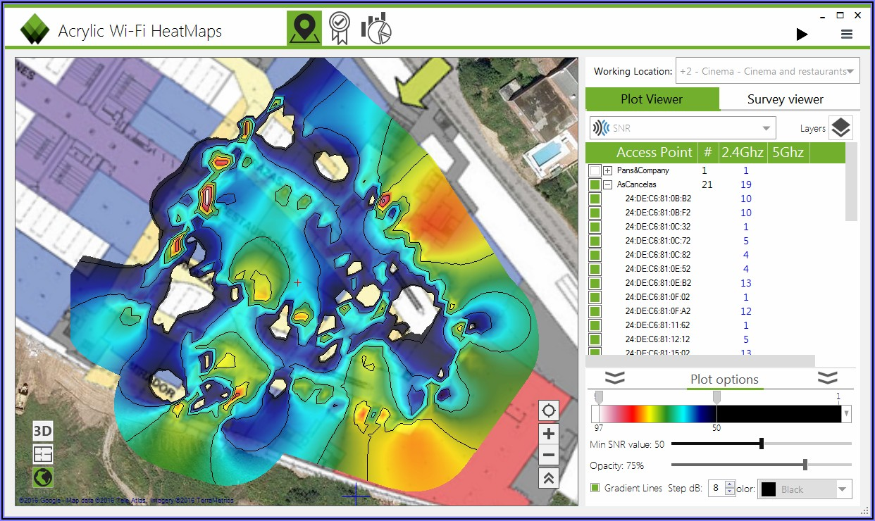 Wireless Access Point Heat Map Software