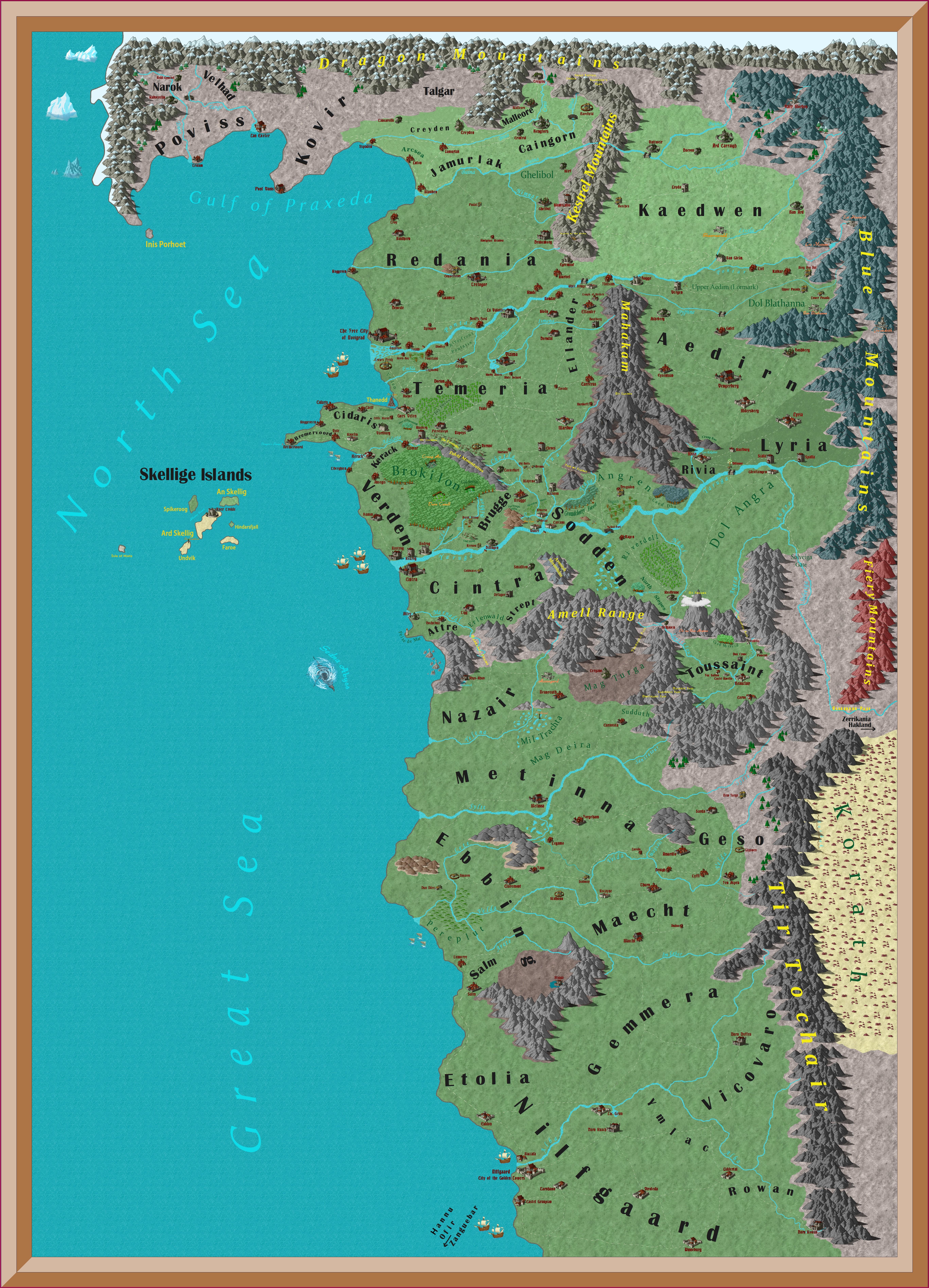 Witcher World Map Books