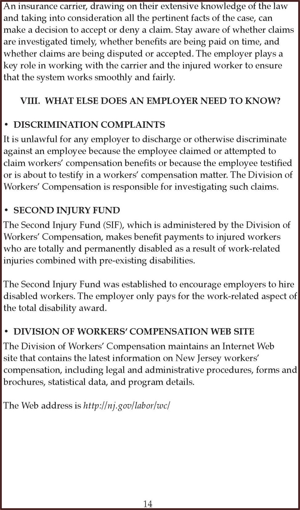 Workers Compensation Claim Forms Nj