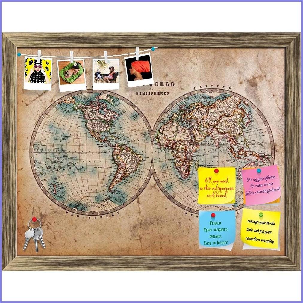 World Map Bulletin Board Paper