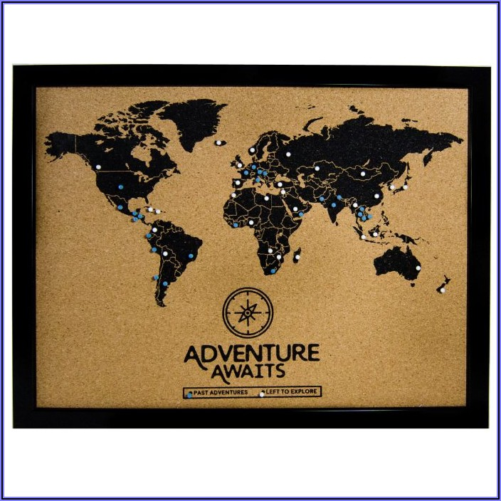 World Map Cork Board Diy