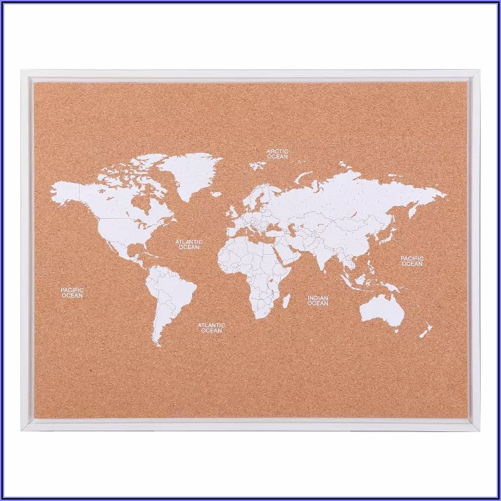 World Map Cork Board Target