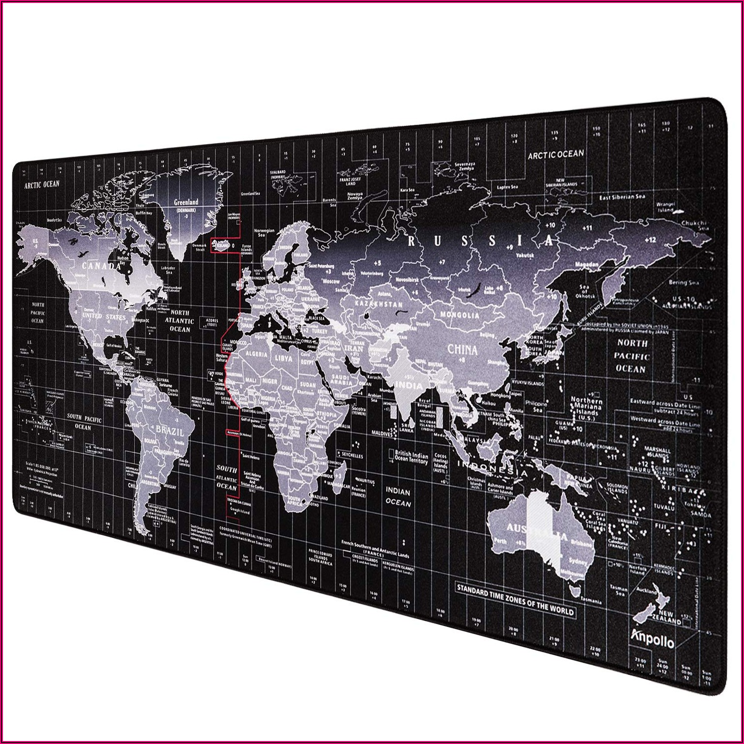 World Map Desk Mat Giant Mouse Pad