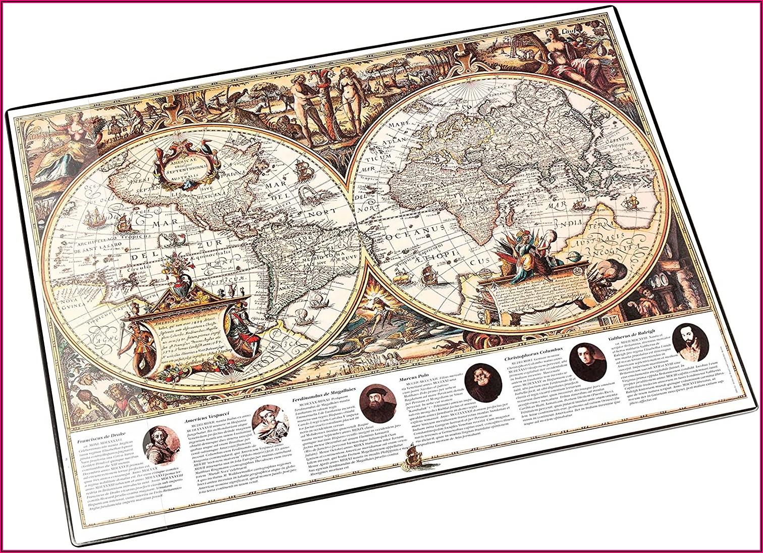World Map Desk Mats