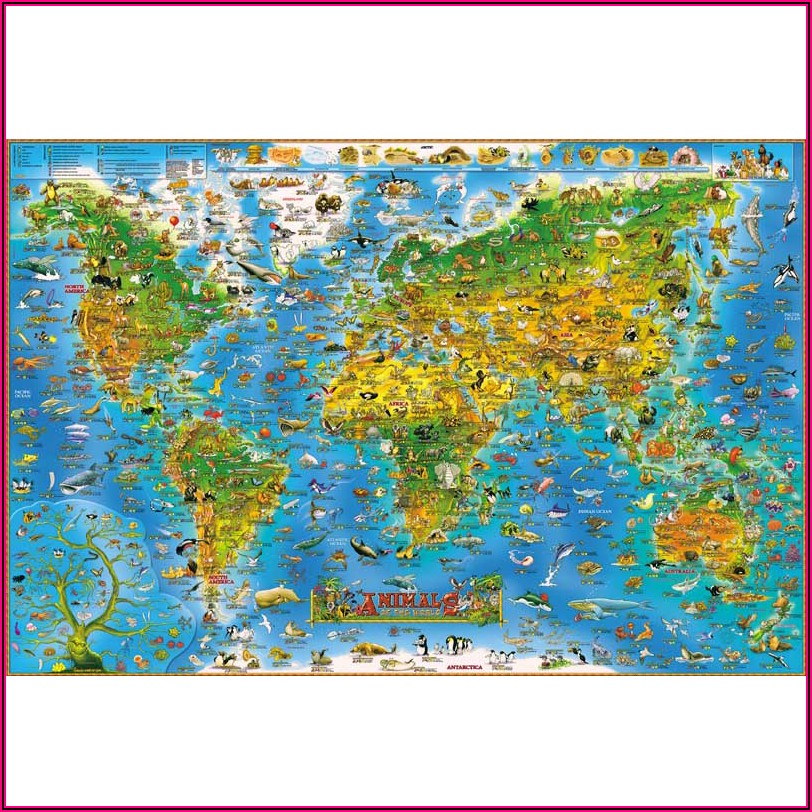 World Map Jigsaw 1000