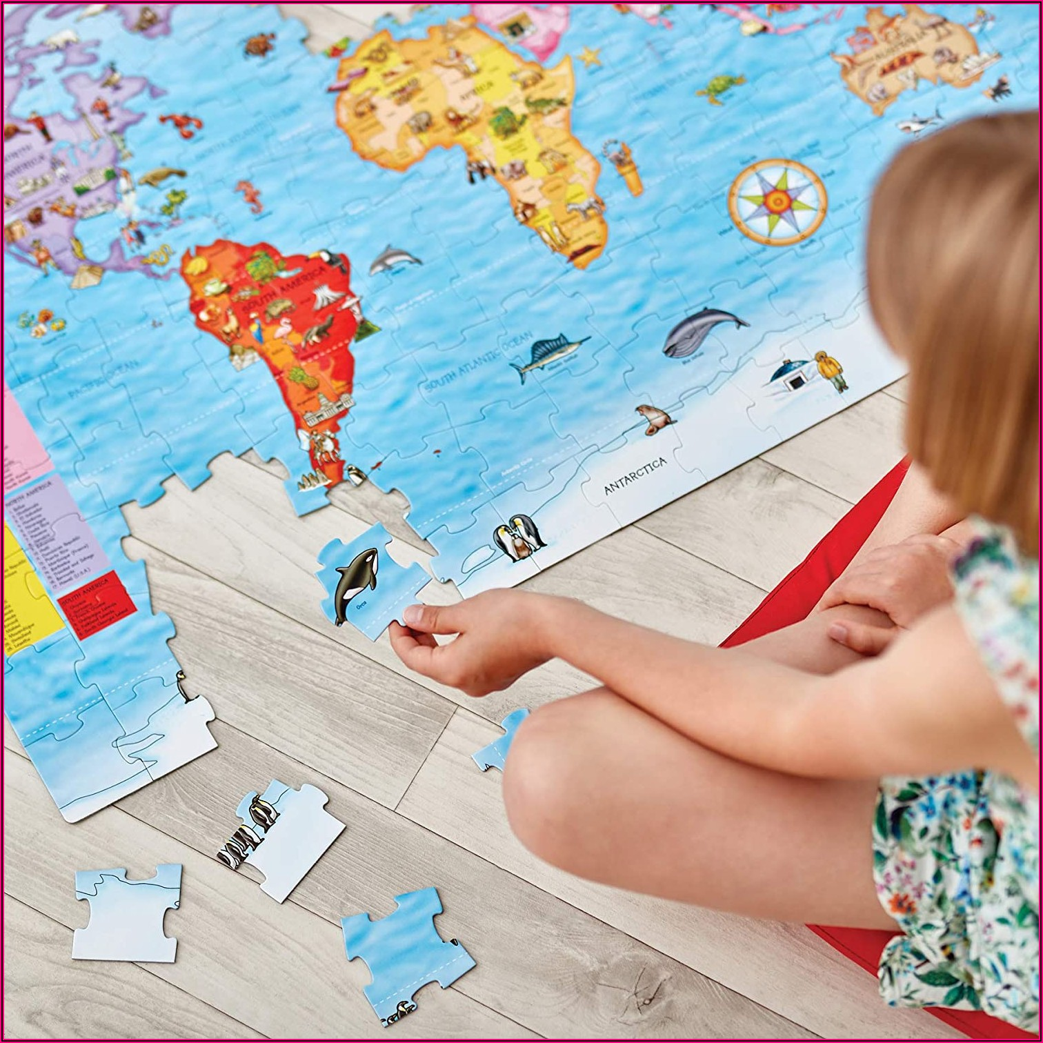 World Map Jigsaw Orchard
