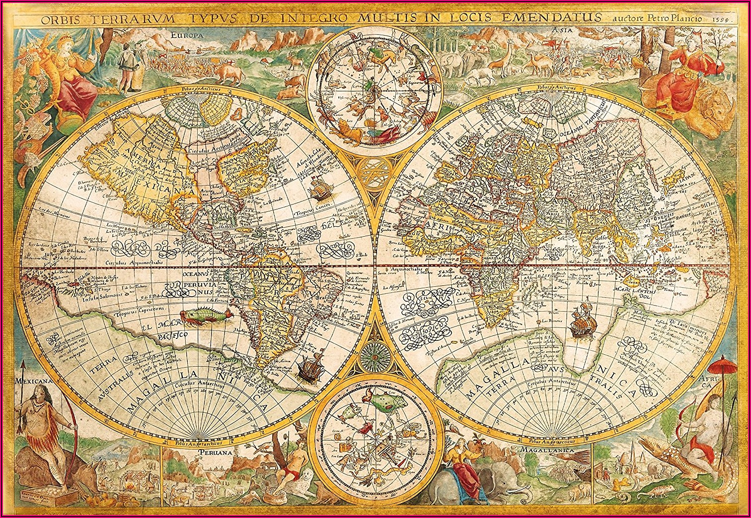 World Map Jigsaw Puzzle 2000