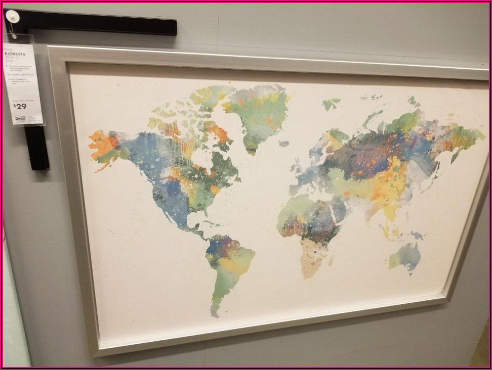 World Map On Canvas Ikea Australia