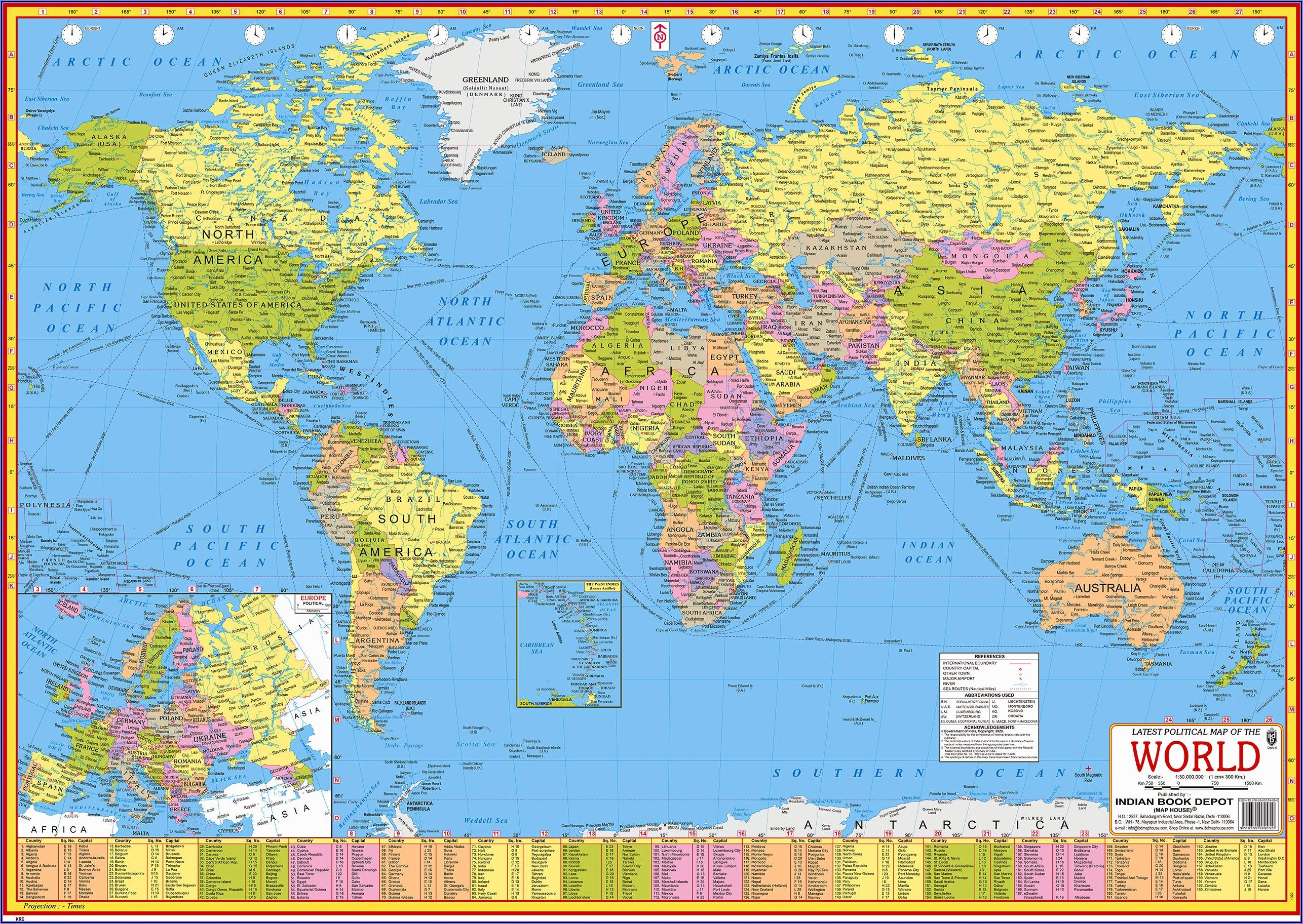 World Map Political Laminated